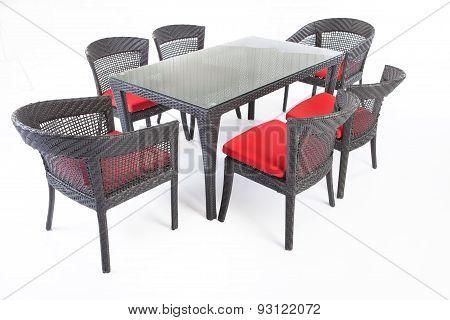 Suite Of Wicker Furniture