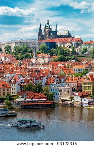 Prague Castle And Saint Vitus Cathedral