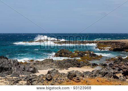 Surf On Black Coral