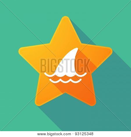 Star Icon With A Shark Fin