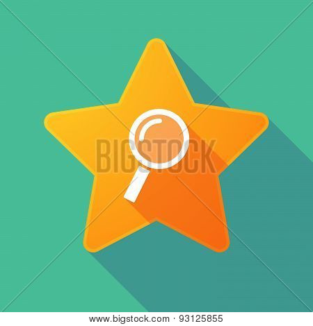 Star Icon With A Magnifier