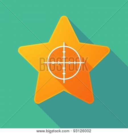 Star Icon With A Crosshair