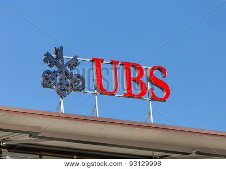 UBS Logo On The Top Of The Ubs Office