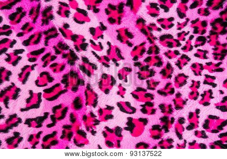 Texture Of Pink Fabric Striped Leopard
