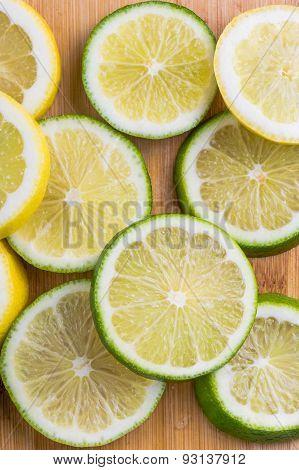 Citrus slices - lemon and lime