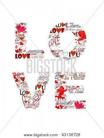 Love. Print for Valentines day