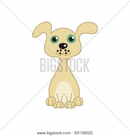 Vector illustration of funny doggy