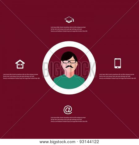 Resume Template Infographic