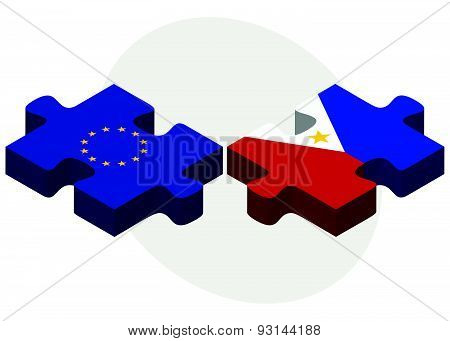 European Union And Philippines Flags