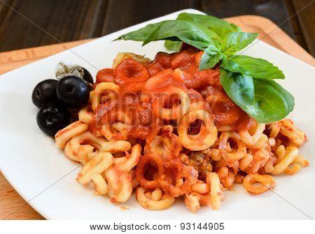 Small Rings Of  Sicilian Pasta