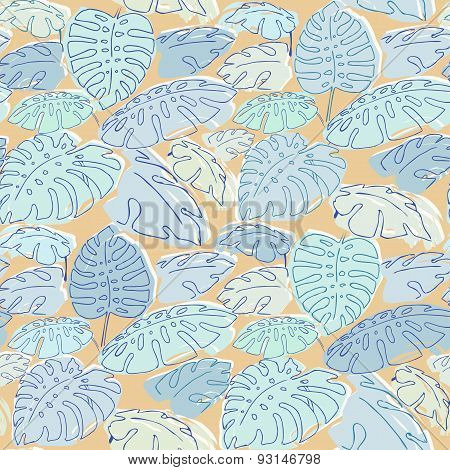 Jungle Palm Leaves Pattern