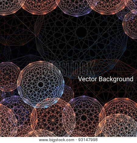 Concentric colored circles, vector background.