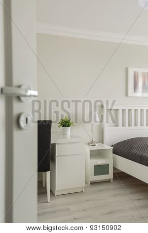 Open Door To Cozy Bedroom