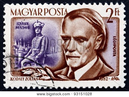 Postage Stamp Hungary 1953 Zoltan Kodaly, Hungarian Composer