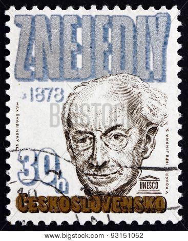 Postage Stamp Czechoslovakia 1978 Zdenek Nejedly, Musicologist A