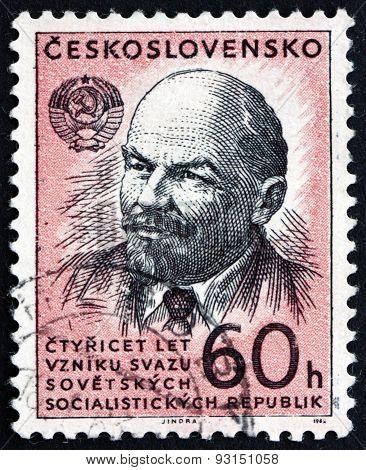 Postage Stamp Czechoslovakia 1962 Vladimir Illyich Lenin, Communist, Politician