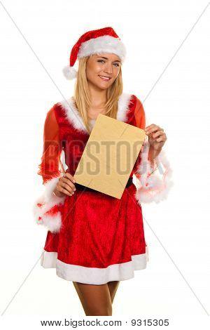 Weihnachtsmann zu Weihnachten mit Anfrage schreiben.