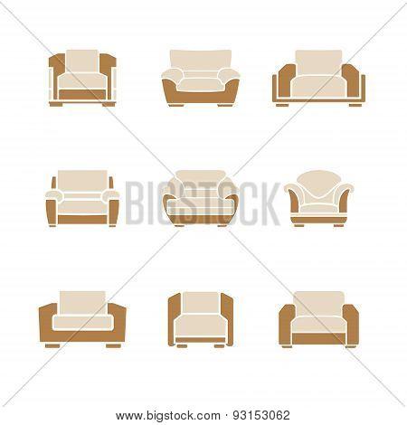 Set Of Stylish Armchairs