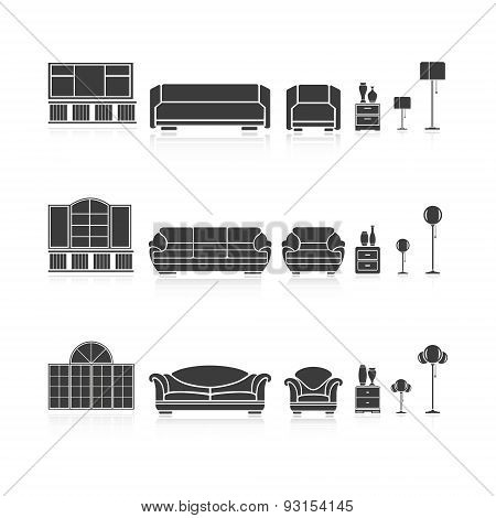 Set Of Silhouettes Furniture