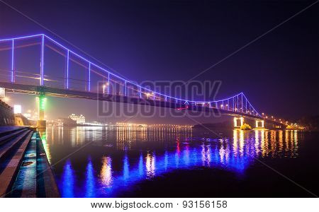 Footbridge in Kiev. Ukraine