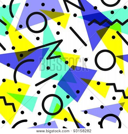 Retro 80S Pattern Background Illustration