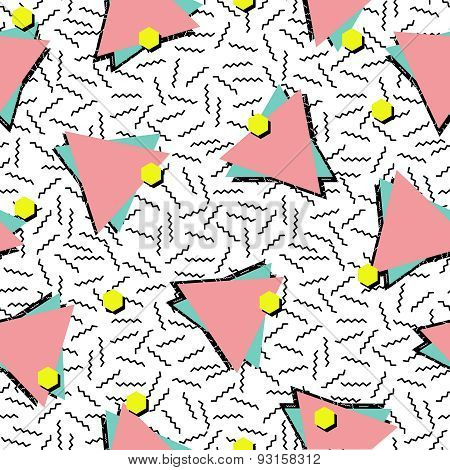Retro 80S Style Seamless Pattern Background