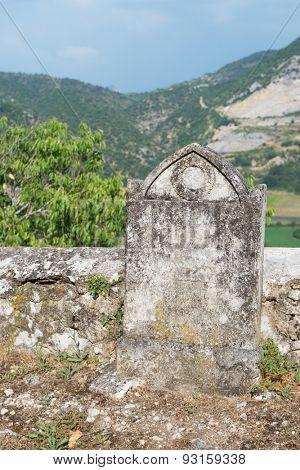 Old graveyard in France