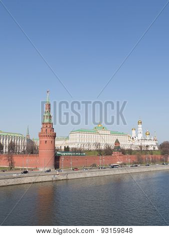 Kremlin Embankment In Moscow, Russia