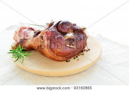 Smoked Ham Hock Cooked