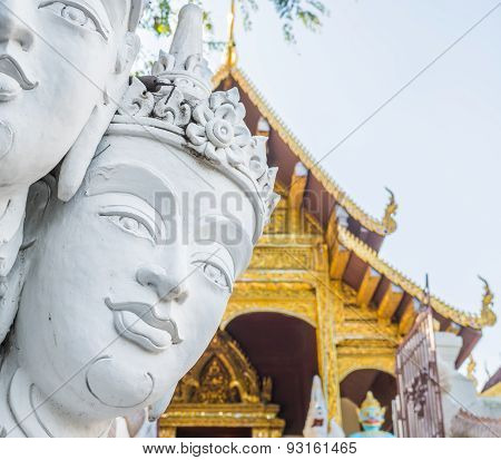 Image Of Angle Sculpture In Thailand Temple.