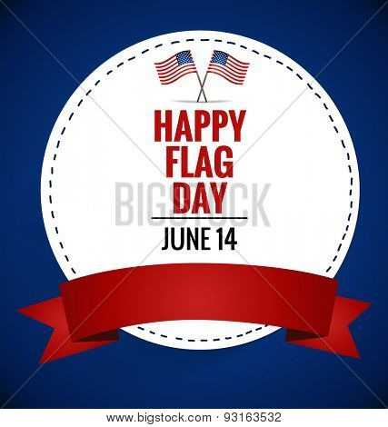 American Flag Day, 14 of June Flag Day. Vector illustration.