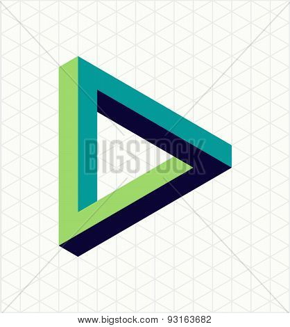 Abstract Impossible Triangle Sign Shape