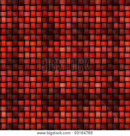 Abstract Red Checky Knitted Texture Made Seamless