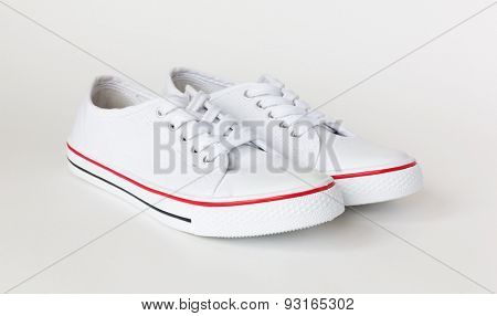 casual gym-shoes isolated on white