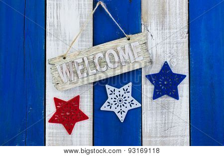 Rustic holiday welcome sign
