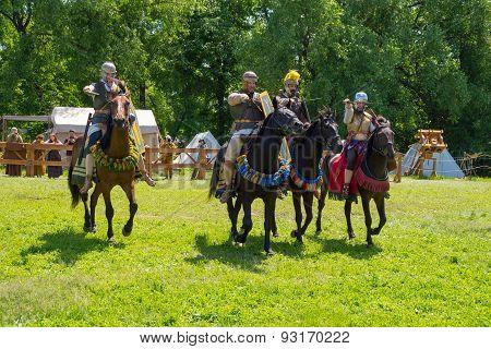 Roman cavalry attack