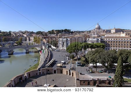 View from the tower of Saint Angelo on Vatican