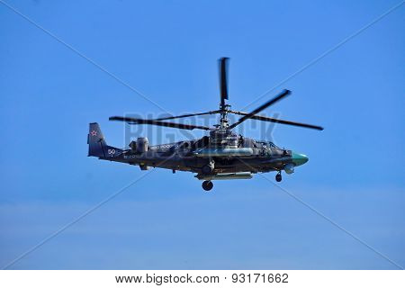 Russian attack helicopter Kamov Ka-52  Alligator