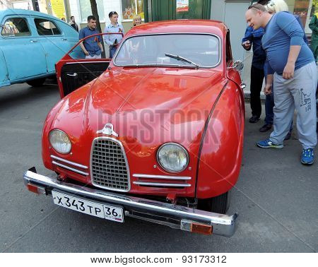 Sweden Retro Car Of 1950S Saab 93