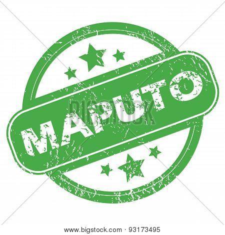 Maputo green stamp