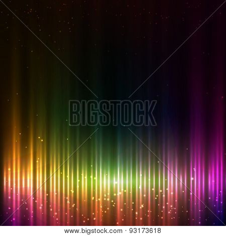 Colorful shining equalizer abstract background