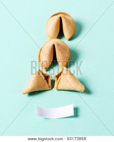 Fortune cookie on the table
