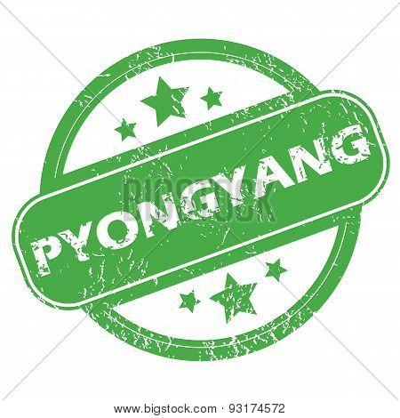 Pyongyang green stamp