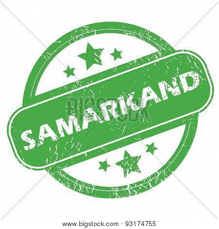 Samarkand green stamp