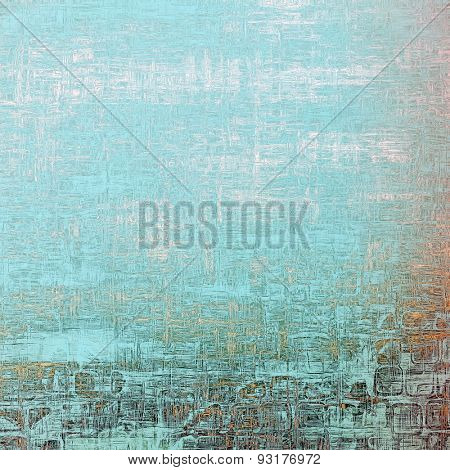 Dirty and weathered old textured background. With different color patterns: yellow (beige); brown; blue; cyan