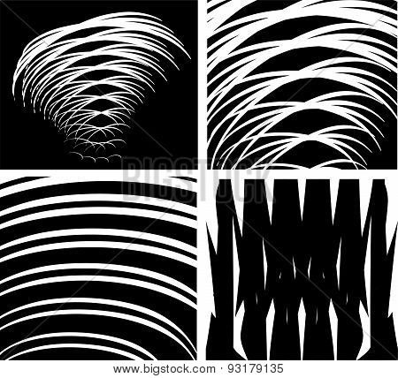Vortex movement. Optical illusion abstract background