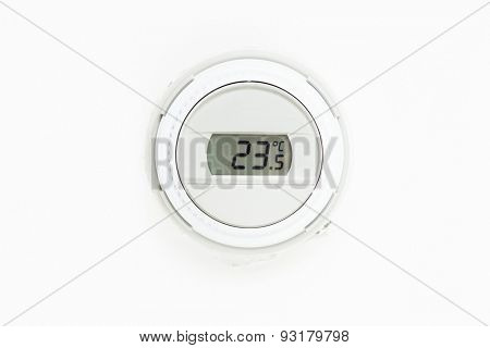 digital climate thermostat, white background