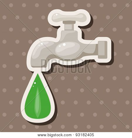 Environmental Protection Concept Theme Elements; Conserve Water, Protect The Environment.
