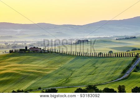 Green Tuscany hills