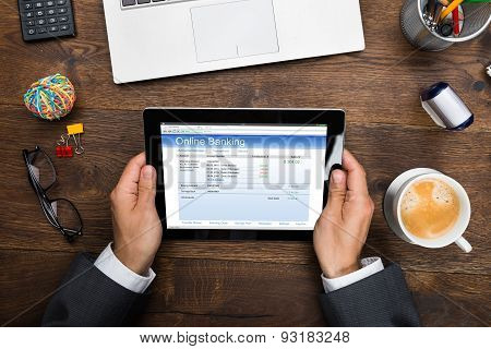 Businessman Using Online Banking Service